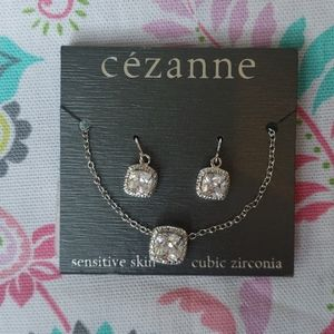 Cezanne 3 Piece Necklace and Earrings Set CZ